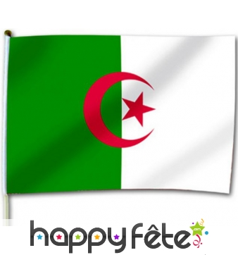 Drapeau Algérie pour supporter 30x46cm