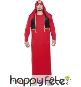 Déguisement arabe rouge
