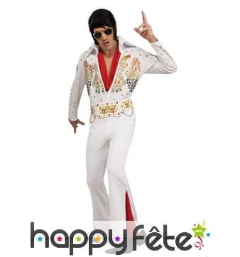 Déguisement blanc d'Elvis Presley pour homme