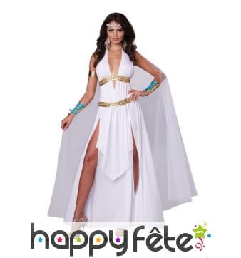 Déguisement blanc de déesse romaine