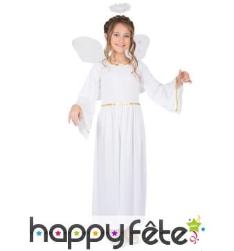 Déguisement blanc de petit Ange pour fille