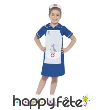 Déguisement bleu d'infirmière pour enfant