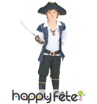 Déguisement bleu de petit pirate