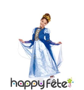 Déguisement bleu de reine pour enfant