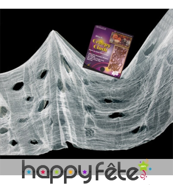 Drap blanc de Halloween, 76x297cm