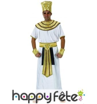 Déguisement blanc et doré de pharaon