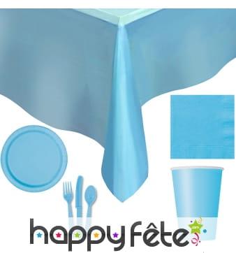 Décorations bleues pastelles d'anniversaire