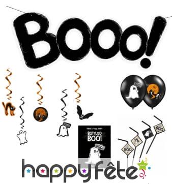 Décos Boo pour fête de Halloween