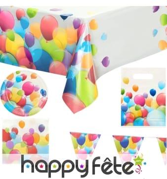 Décos ballons volants pour table d'anniversaire