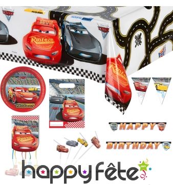 Déco Cars 3 pour table d'anniversaire