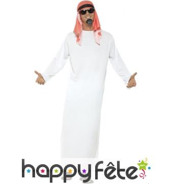 Déguisement cheik arabe homme