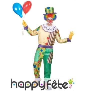 Déguisement coloré à motifs de clown