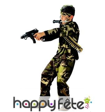 Déguisement camouflage de militaire pour garçon