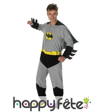 Déguisement classic gris de Batman pour homme
