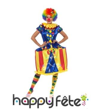 Déguisement carousel lumineux de clown pour femme