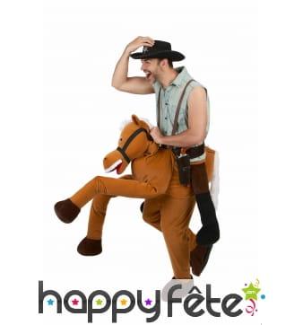 Déguisement carry me à dos de cheval pour adulte