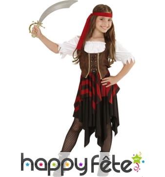 Déguisement corset marron de pirate enfant