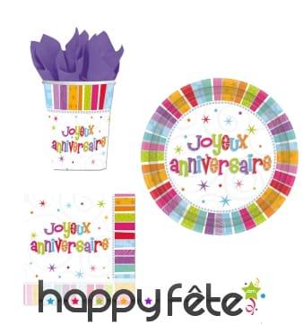 Déco colorée pour gôuter, joyeux anniversaire