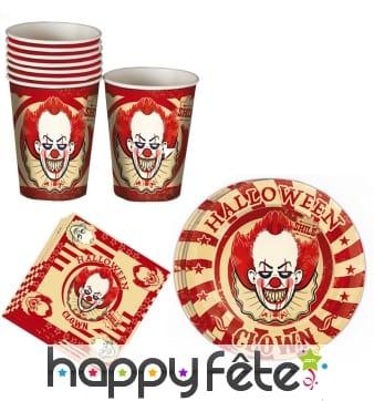 Décoration clown pour table de Halloween