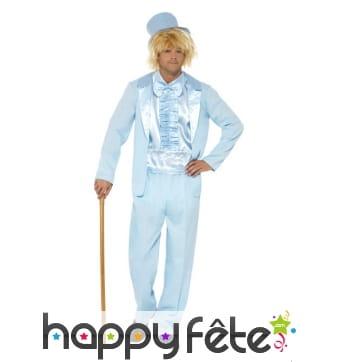 Déguisement costume tuxédo bleu rigolo années 90