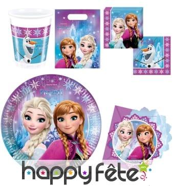 Décorations d'anniversaire reine des neiges