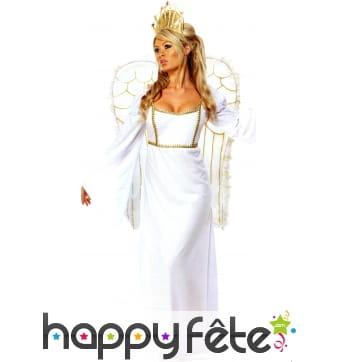 Déguisement d'ange avec couronne et ailes