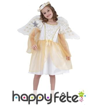 Déguisement d'ange broderies dorées pour enfant