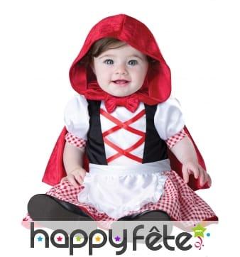 Déguisement de bébé chaperon rouge classique