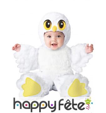 Déguisement de bébé chouette blanc