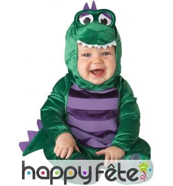 Déguisement de bébé dinosaure vert
