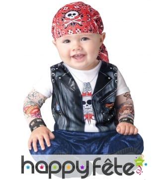 Déguisement de bébé motard