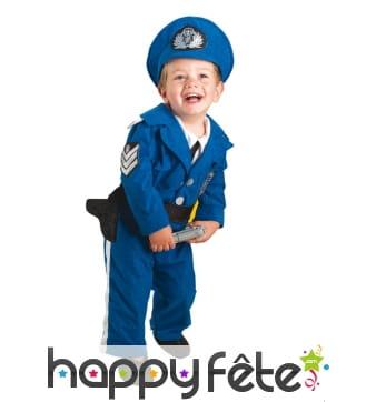 Déguisement de bébé policier