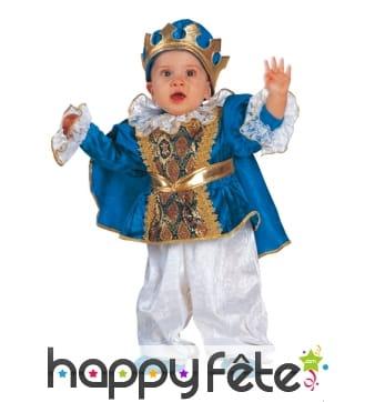 Déguisement de bébé roi bleu et doré