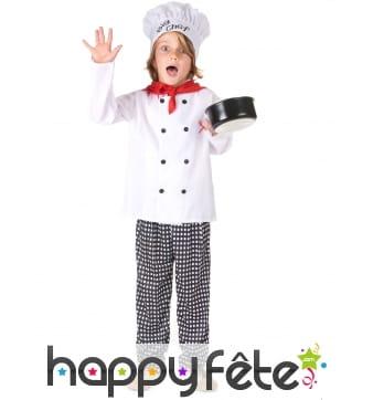 Déguisement de big chef cuisinier pour enfant