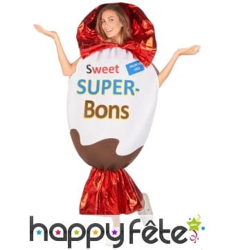 Déguisement de bonbon au chocolat