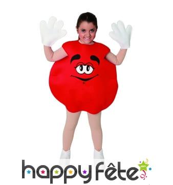 Déguisement de bonbon rouge pour enfant