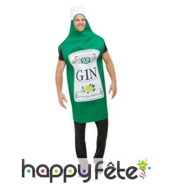 Déguisement de bouteille de gin pour adulte