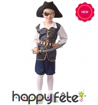 Déguisement de capitaine pirate élégant enfant