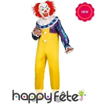 Déguisement de célèbre clown tueur pour homme