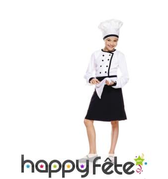 Déguisement de chef cuisinier pour fillette