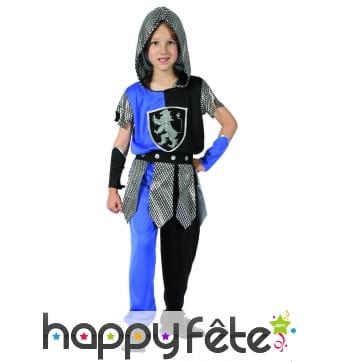 Déguisement de chevalier bleu et noir pour enfant
