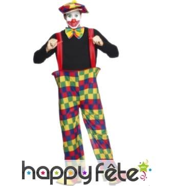 Déguisement de clown à bretelle