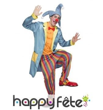 Déguisement de clown bouffon pour adulte