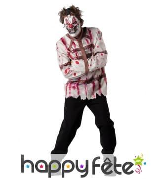 Déguisement de clown fou en camisole