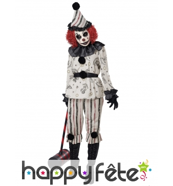 Déguisement de clown hanté pour adulte