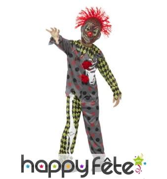 Déguisement de clown horrible pour enfant