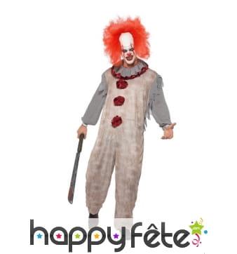 Déguisement de clown sinistre vintage