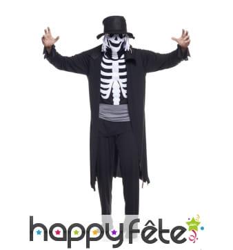 Déguisement de dandy squelette pour adulte