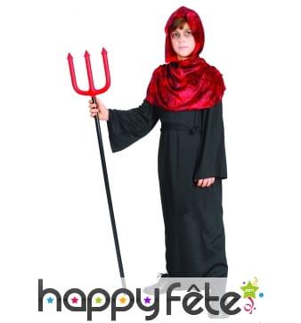 Déguisement de démon noir et rouge pour enfant