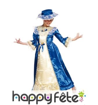 Déguisement de duchesse bleu pour enfant
